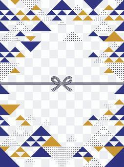 Japanese style / geometric pattern frame 04