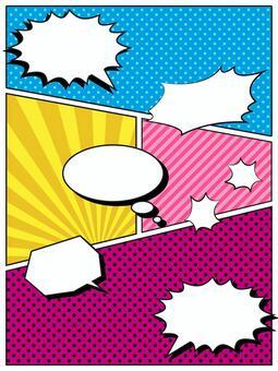 American comic style speech bubble material