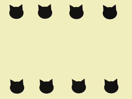 貓黑貓剪影框架