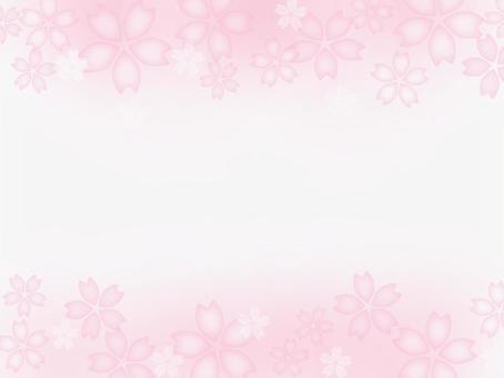 Cherry blossom frame (sideways)