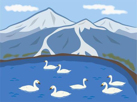 豬苗代湖和萬代山