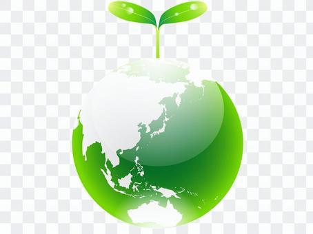ai 에코 아이콘 떡잎이 나고 지구