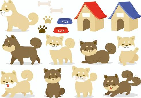 Dog illustration collection 1