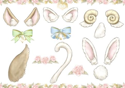 Fluffy Narikiri Animal Illustration Set