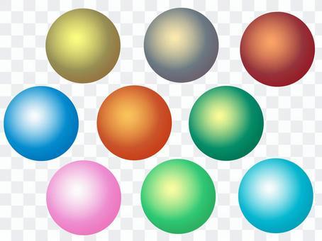 多彩的球體