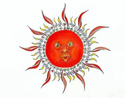 Solar Arabesque style Sun breath