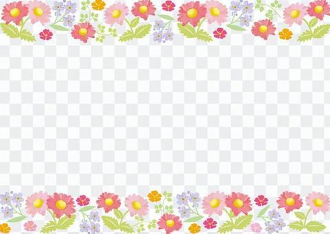 Spring flower frame 4