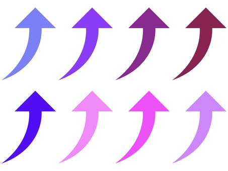 簡單的向上箭頭圖標集:紫色