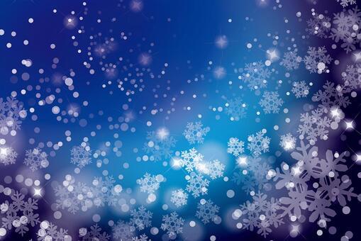 下雪的夜晚閃閃發光