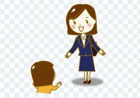 職業女性兒童的皮卡