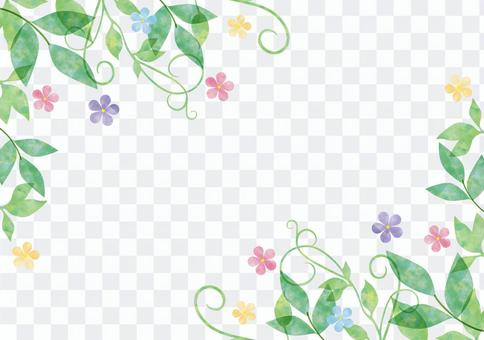 Vegetables and flowers _ Pastel _ frame