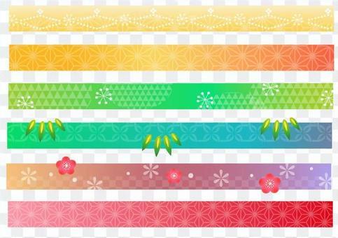 New Year Japanese Pattern
