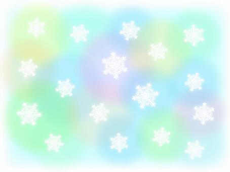 柔和的顏色背景和雪水晶