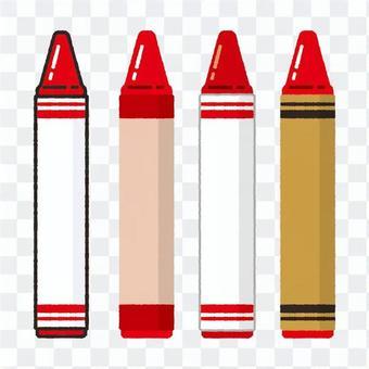 手繪風蠟筆紅色