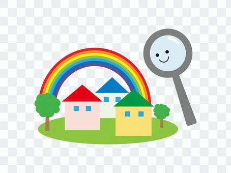 找房子的插圖