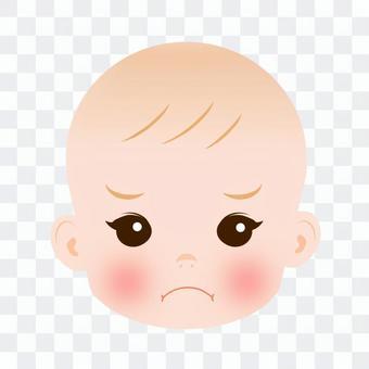 寶貝的臉色變得生氣