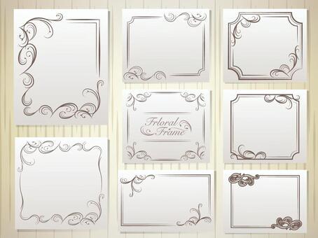 Elegant decorative ruler frame
