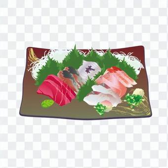 生魚片盤片(深棕色正方形培養皿)