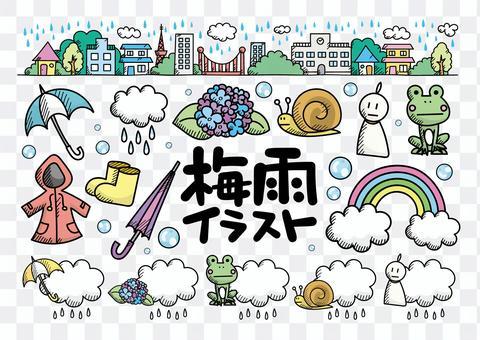 〜雨季〜手寫的插圖集