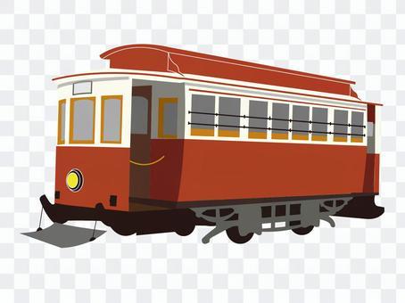复古的路面电车