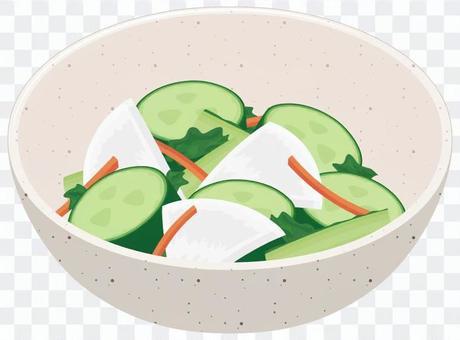 キュウリと蕪の漬物の小鉢