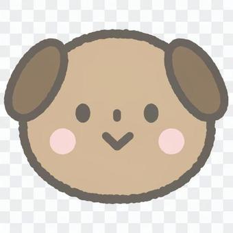 可愛的動物狗Wanko