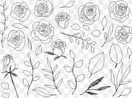 Rough roses and grass