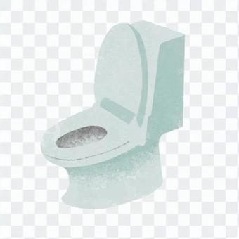 手绘风格的厕所