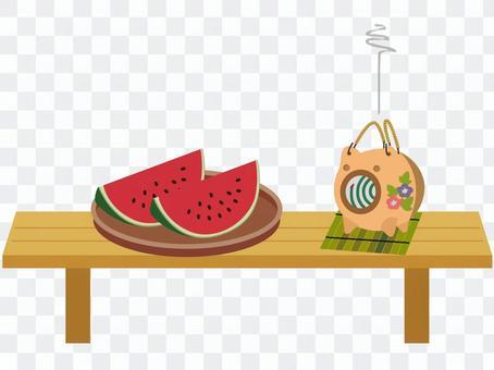 Summer landscape_watermelon