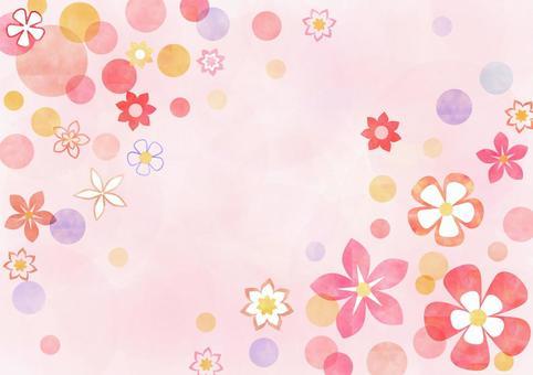 花_粉彩_粉红色的背景