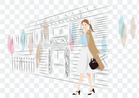 人物002職業女性的插圖