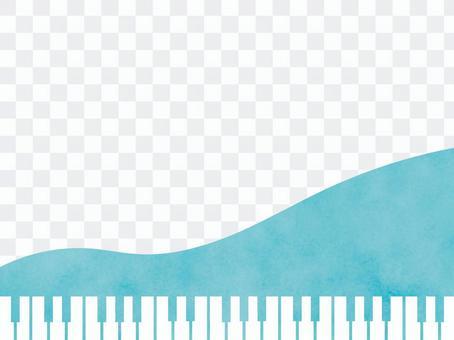 水彩風格鋼琴鍵盤