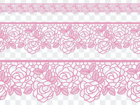 蕾絲編織風(玫瑰)與畫筆模式陰影