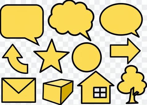 黃色圖標素材集