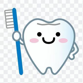 吉祥物的牙齒