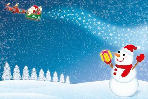 雪木和聖誕老人框架