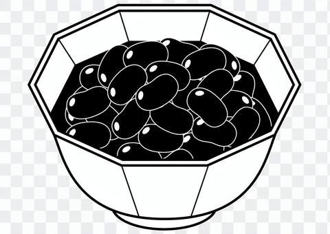 Sweet boiled beans-1c