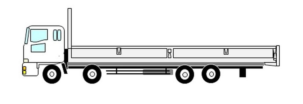 10噸平體車(白色)