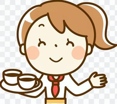女孩兼職 - 咖啡廳