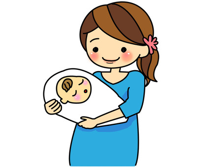 Pregnant woman (after birth) brown hair