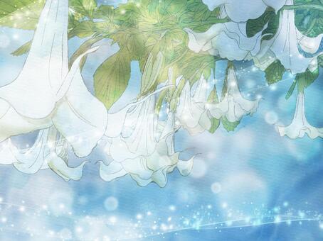 閃閃發光的水彩小號(白色)