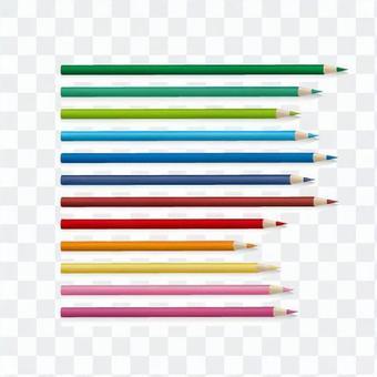 Colored pencil bar chart