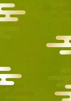Japanese pattern matcha green