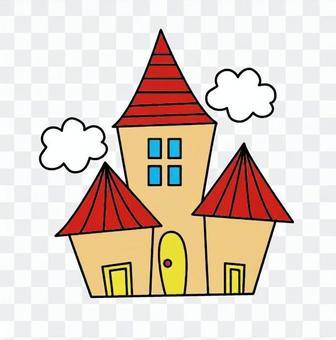 紅色屋頂的房子
