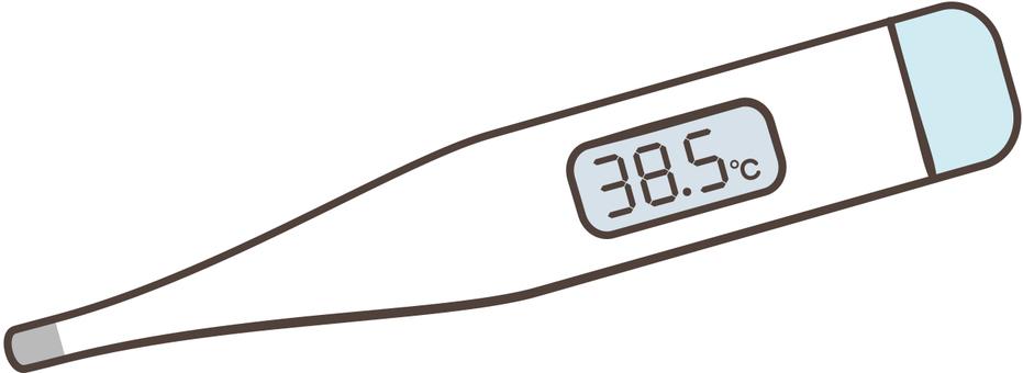 溫度計 38.5℃