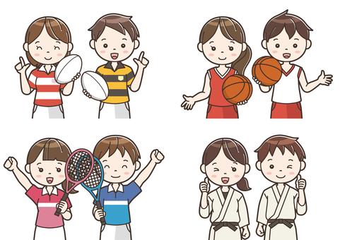 Club activity illustration 07