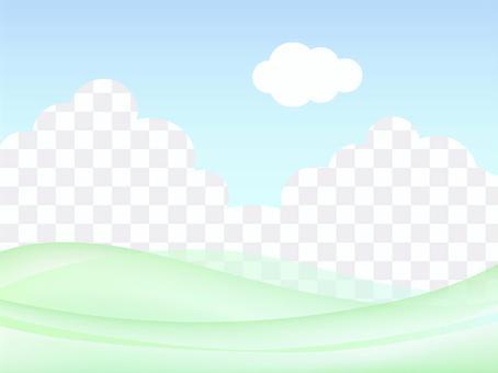 草地和天空背景漸變