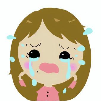 漂亮的女孩在哭