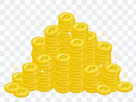 一堆點硬幣插圖素材