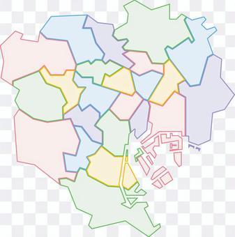 東京23病房地圖